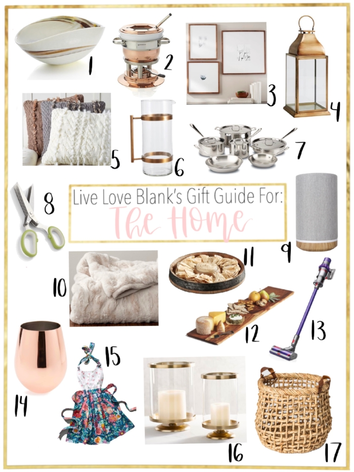Live Love Blank liveloveblank.com Gift Guide for The Interior Deisgner, Home Lover and The Chef