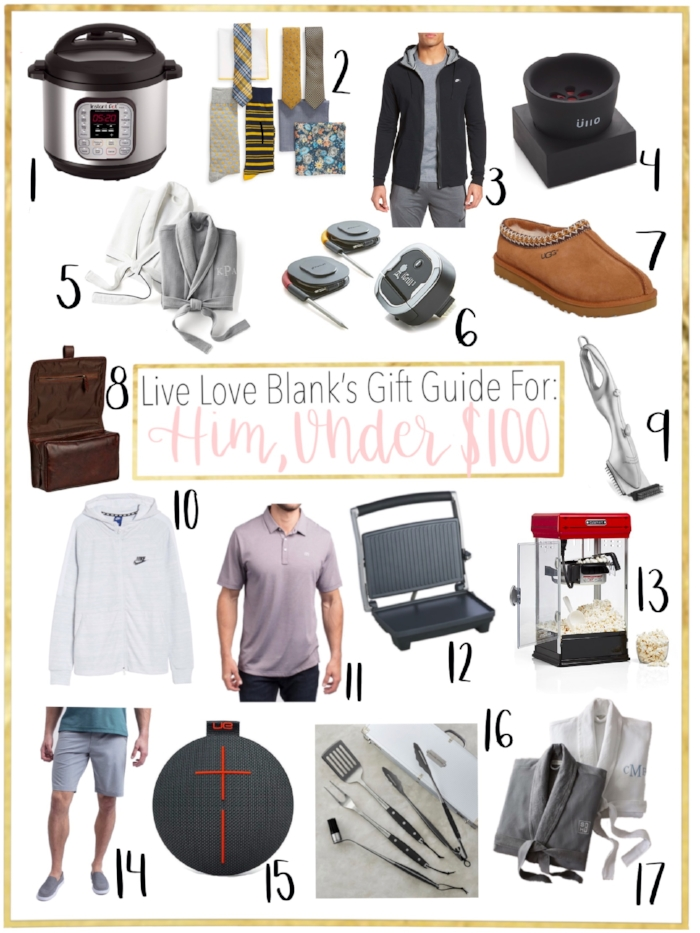 LIVE LOVE BLANK liveloveblank.com GIFT Guide Holiday 2018 for Him, for the men/man in your life, fashion blog lifestyle blogger