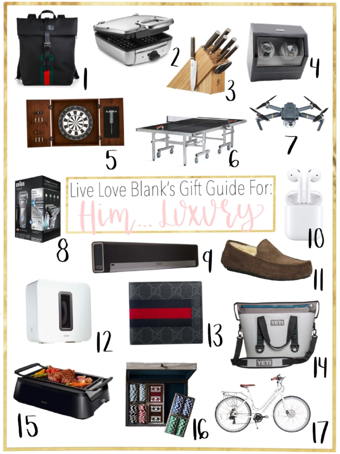 LIve lOve Blank livelovebalnk.com Gift Guide for The Men Man in Your life, Gift Guide for him Holidays 2018