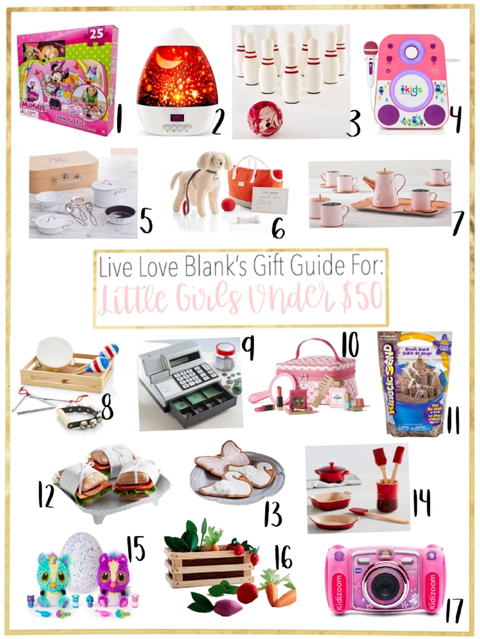 Live Love Blank liveloveblank.com Little Girls Gift Guide Holiday 2018 Girls 6 and under, style blogger mom blog, mom blogger