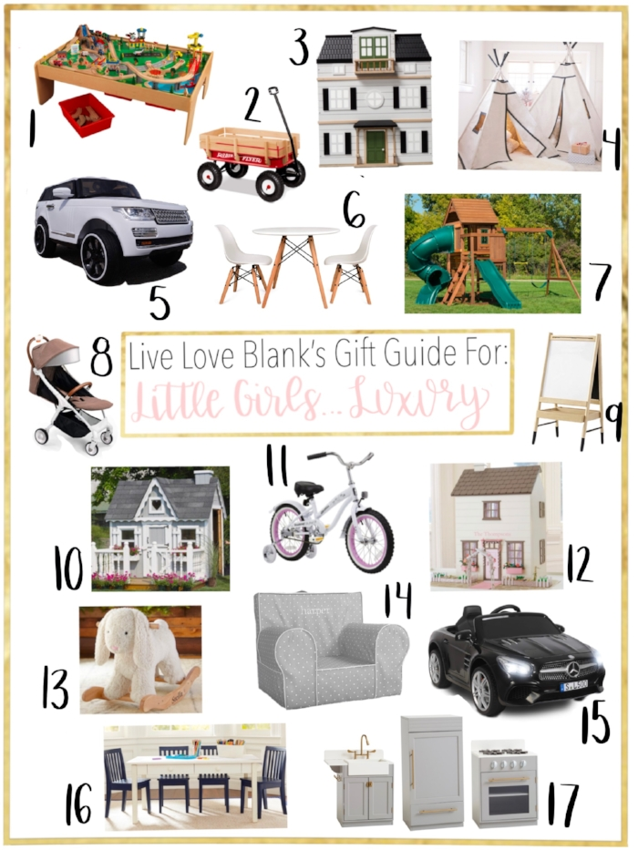 Live LOve blank, liveloveblank.com Gift guides for little Girls Luxury, children, Holidays 2018, Gift Ideas for little girls over $100, Big Gift Ideas