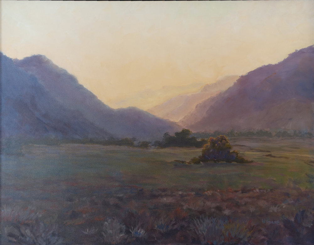 Kern Valley Sunset, 28 x 36 inches