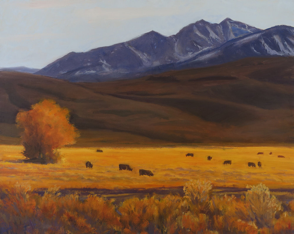 Eastern Sierra Ranching, 24 x 30 inches
