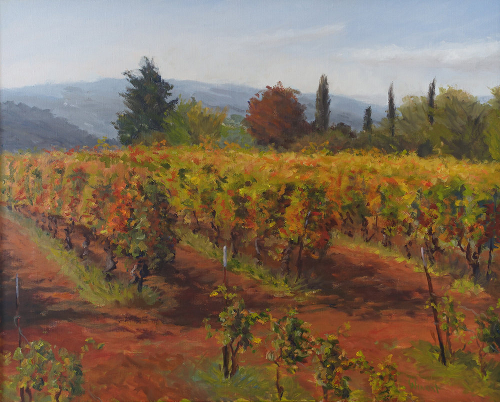 Bonnieux Vineyard, 24 x 30 inches