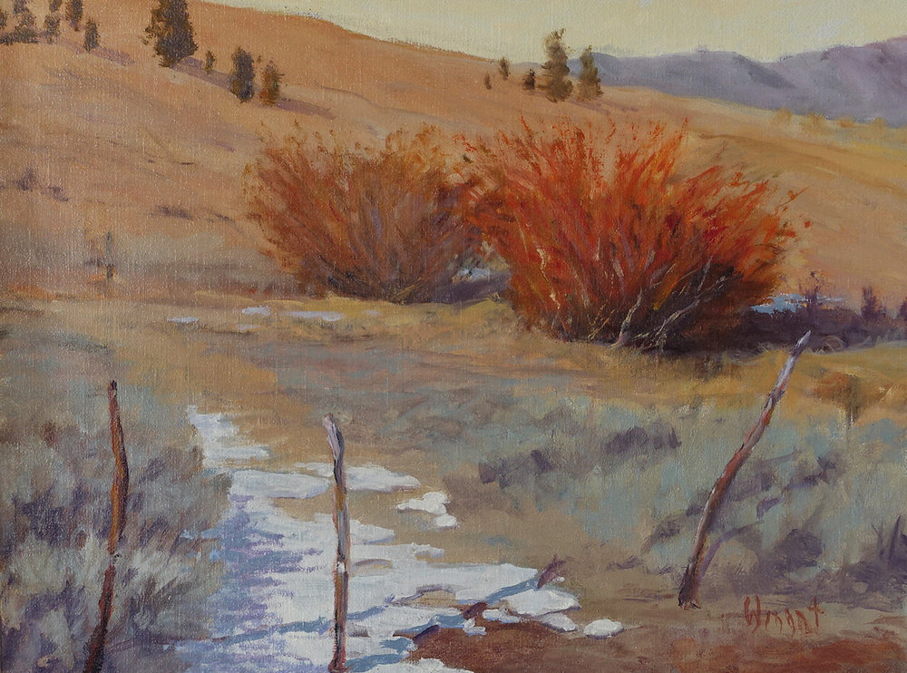 Ranching in High Country, 12 x 16 inches