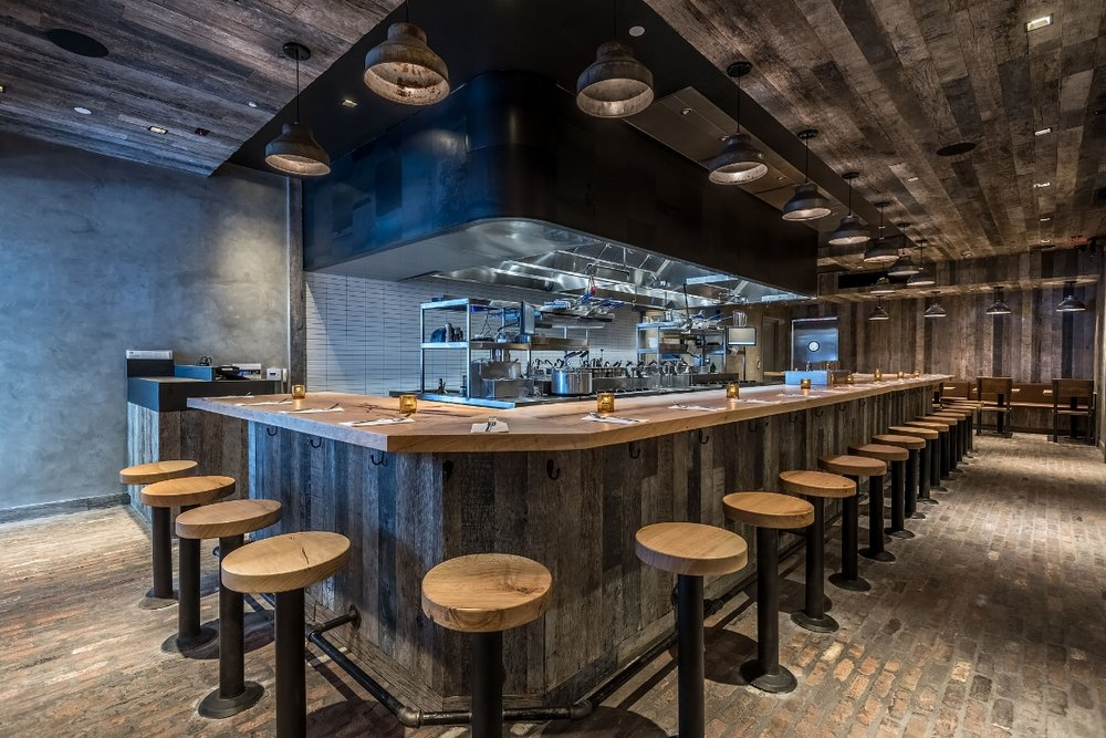 Industrial Farmhouse Pendants | Uovo Pasta | Santa Monica, CA