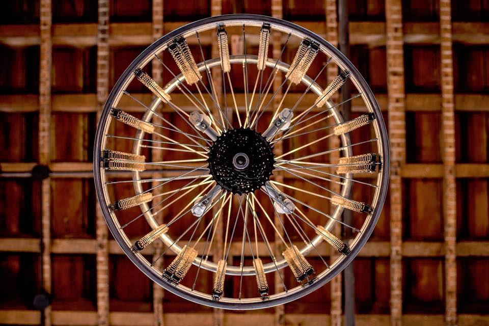 Bicycle Rim Chandelier | Albert's General Store | Bay City, MI