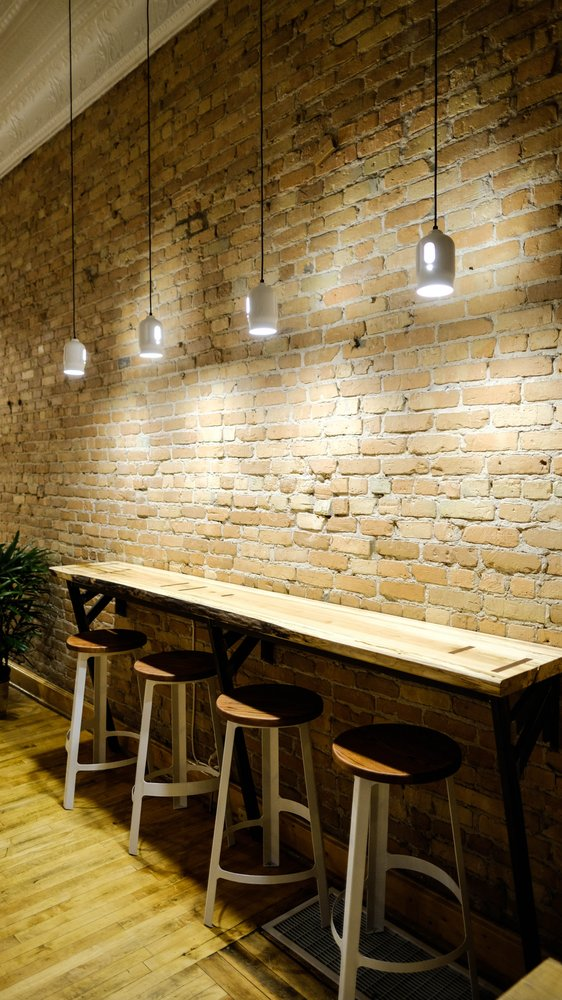 Steel Tank Cap Pendants | Populace Coffee | Bay City, MI