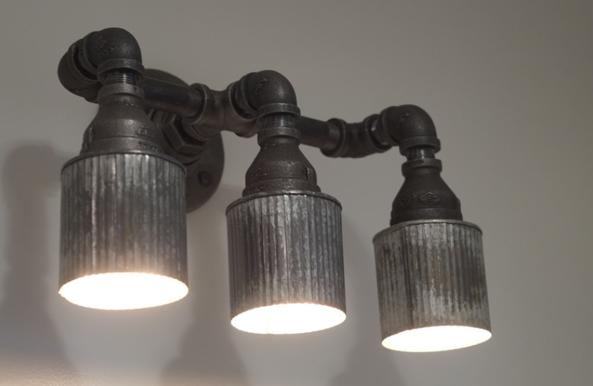 Pipe Sconce