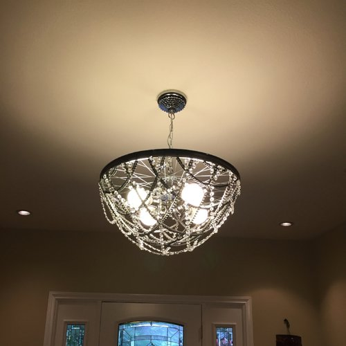 Crystal & Chain Chandelier