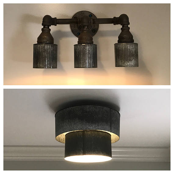 Pipe Sconce & Ceiling Light
