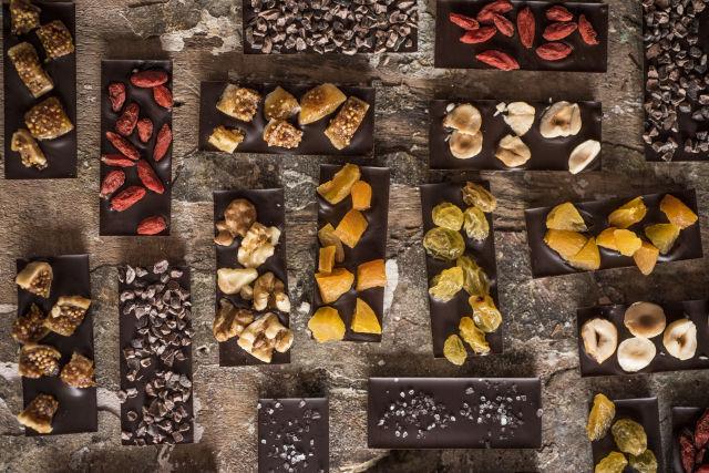 sabores: flor de sal, grues de cacau, damasco, goji berry, uva passa, amendoas, semente de abobora