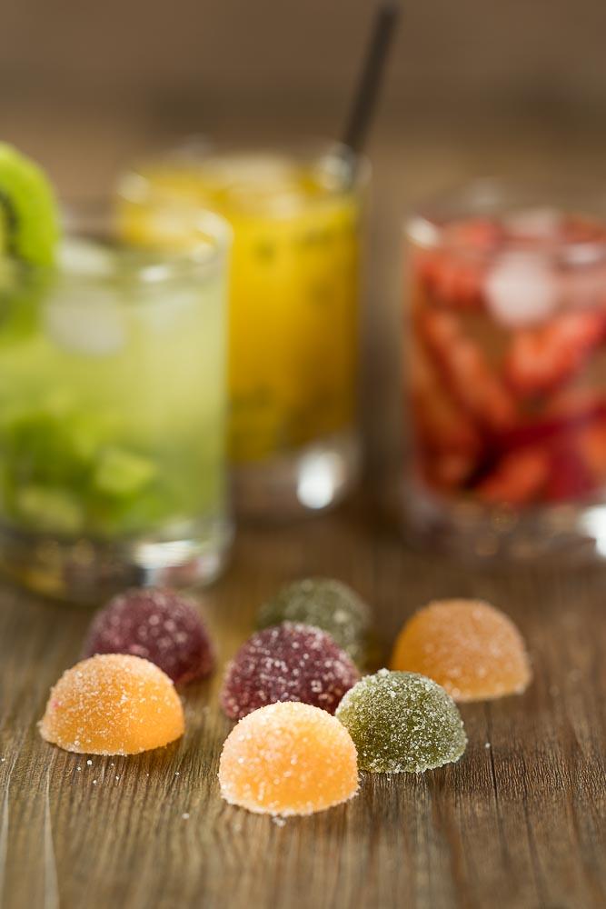 Nossas deliciosas geleias agora nos sabores caipirinha de maracujá, kiwi e morango - com vodka.