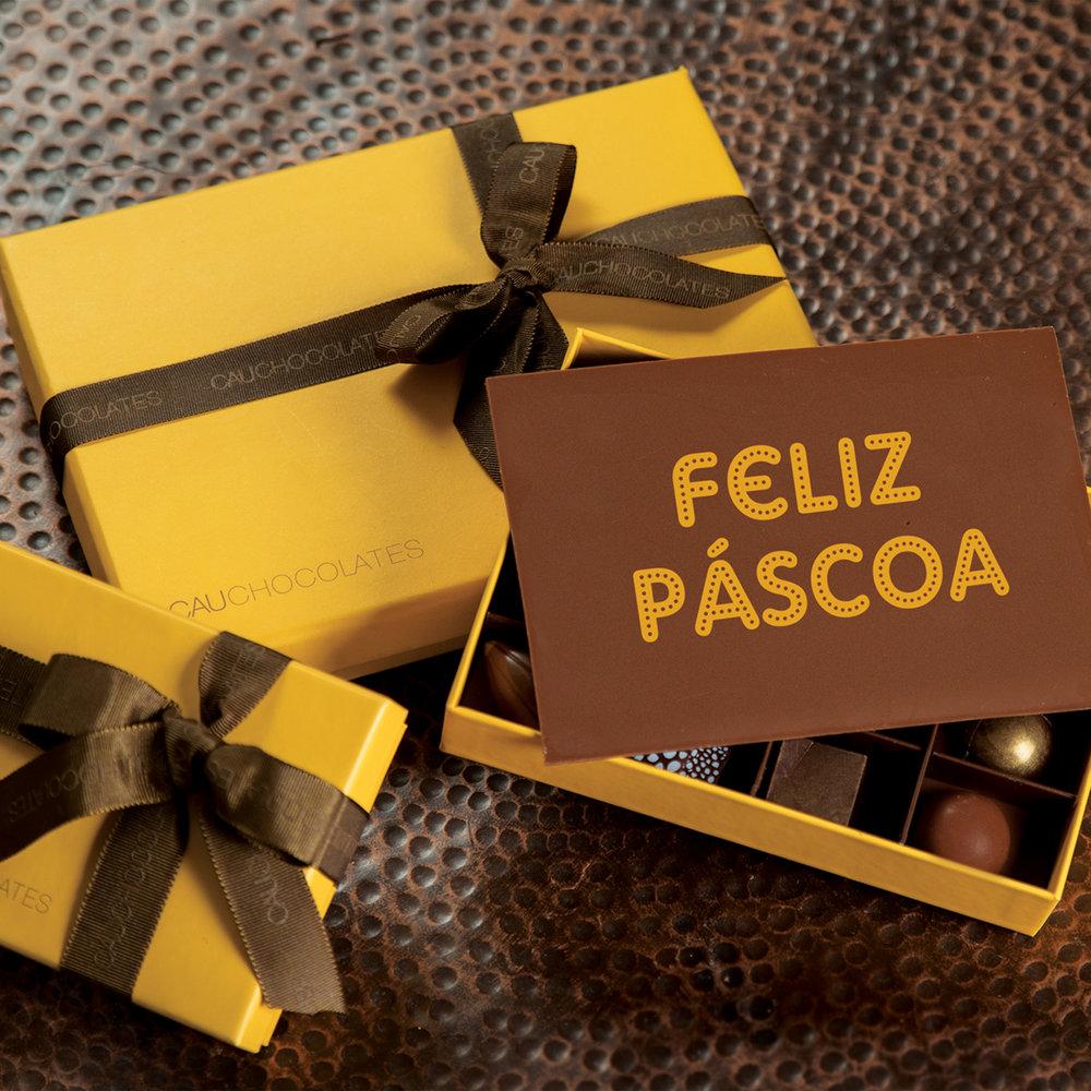 Yellow Box com Placa Feliz Páscoa - a partir de R$ 101,00
