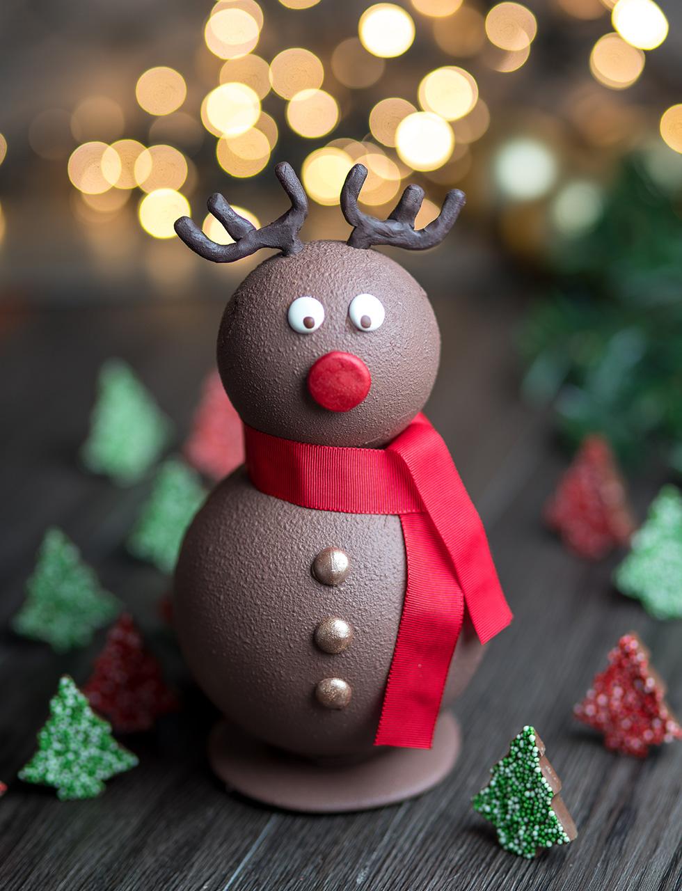 Mascote de Natal Chocolate ao leite cod 1739 - 300 g - R$ 175