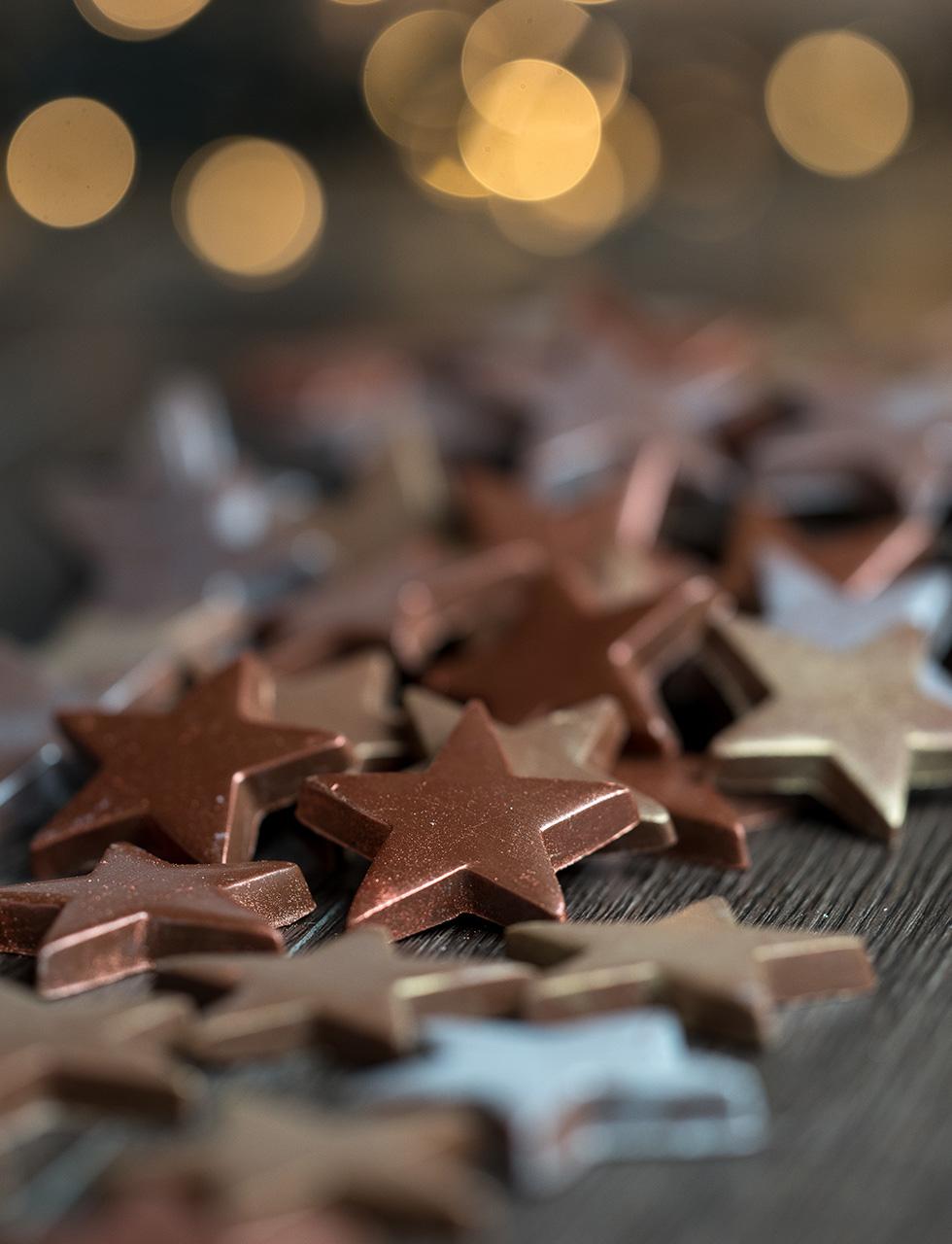 Estrelas Chocolate ao leite cod 1704 - bag presente 200 g - R$ 62