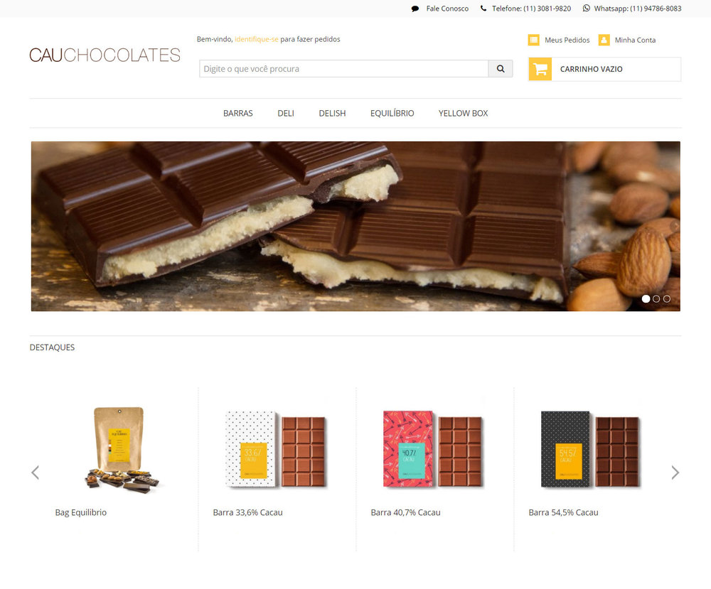LOJA ONLINE Faça suas compras na nova loja online da Cau Chocolates: loja.cauchocolates.com.br