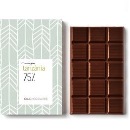 Chocolate Amargo, 75% Cacau origem Tanzânia - um dos mais raros do mundo