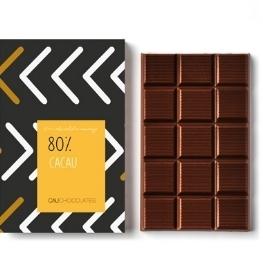 Mais puro chocolate amargo com 80% de cacau - mais cacau e menos açúcar