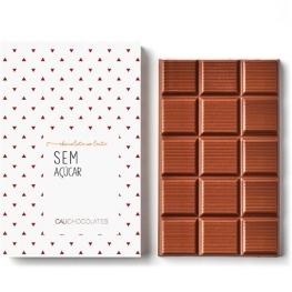 O mais puro chocolate ao leite sem açúcar