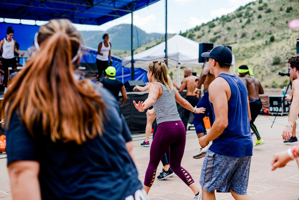 Natalie Uhling Fitness at Fitness on the Rocks 2017