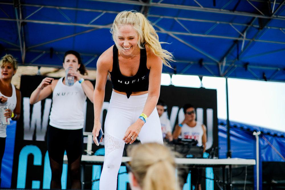 Natalie Uhling Fitness at Fitness on the Rocks 2017
