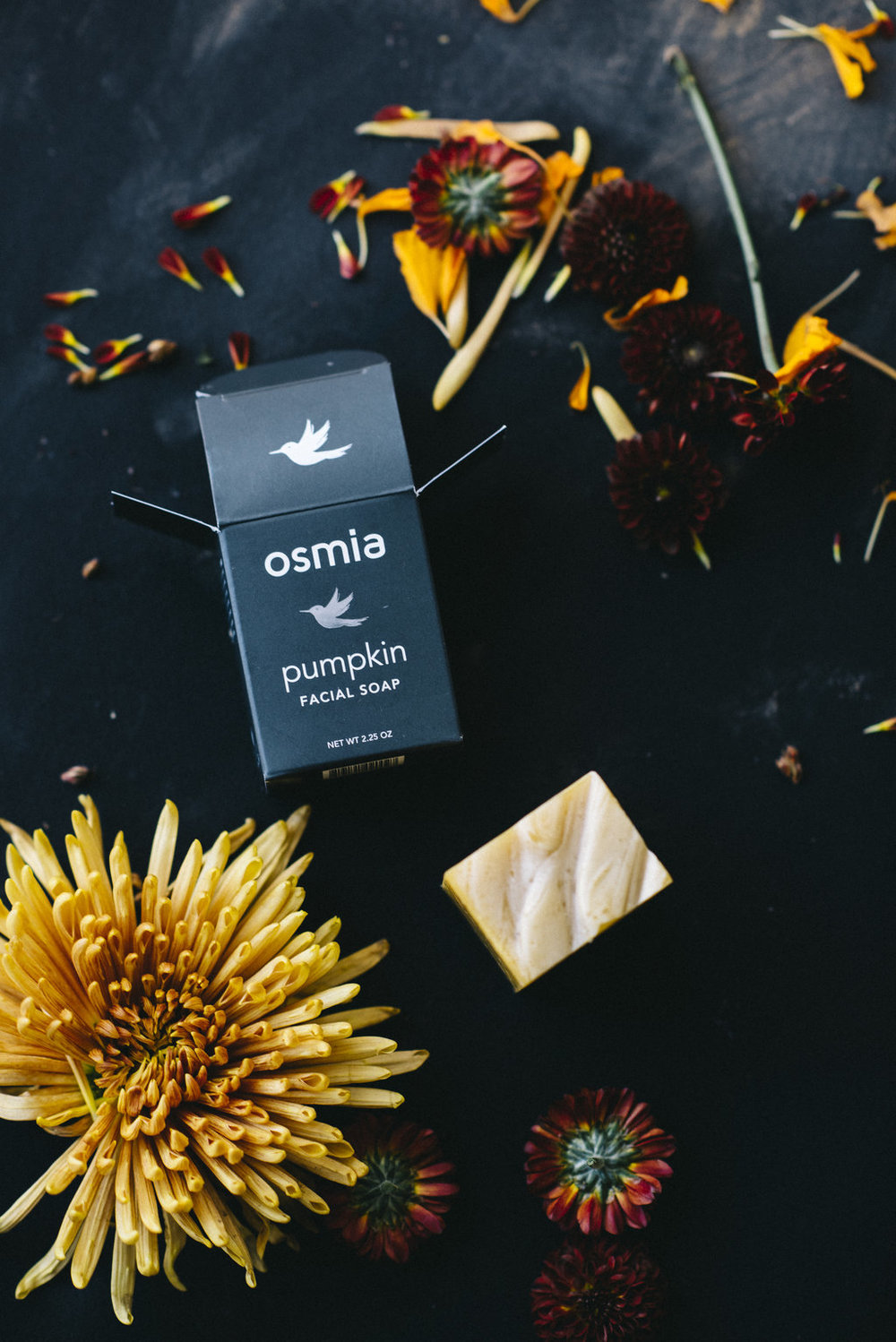 The Cleanser:  - Osmia Pumpkin Facial SoapOrganic pumpkin and tomato are incorporated into this well-loved facial soap for a gentle yet effective enzymatic exfoliation. Shop: Osmia Pumpkin Facial Soap