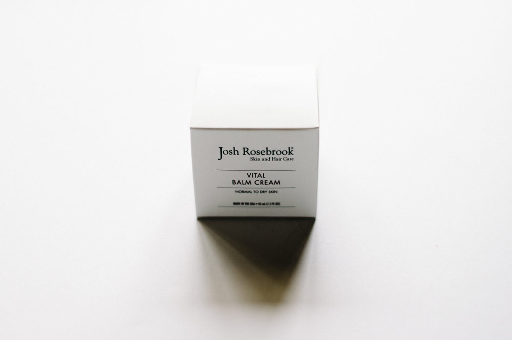 "Josh Rosebrook: Vital Balm Cream - This vital balm cream has the consistency or a moisturizer but the power of a balm. By ""facilitating maximum cellular hydration"" this repairs and restores dry skin. I love that this product is soothing and calming— it feels incredible after a day in the mountains!Shop: Josh Rosebrook Vital Balm Cream"