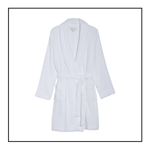2. TERRY ROBE - This terry-cloth robe is oh-so-cozy and adds a touch of luxury to your at-home routine. Once you put this on, you won't want to take if off! Shop: Terry Robe