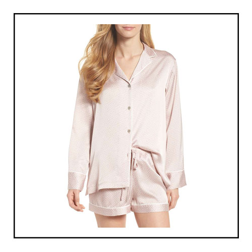 3. LABYRINTH SHORTY PAJAMAS - This pajama set looks so luxurious! This Valentine's Day slip into a set like this and pour yourslef a glass of wine! Shop: Labyrinth Shorty Pajamas