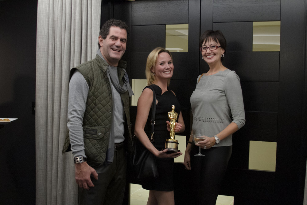 Mark Grunwald, Nicola Riske, and Chani Grunwald