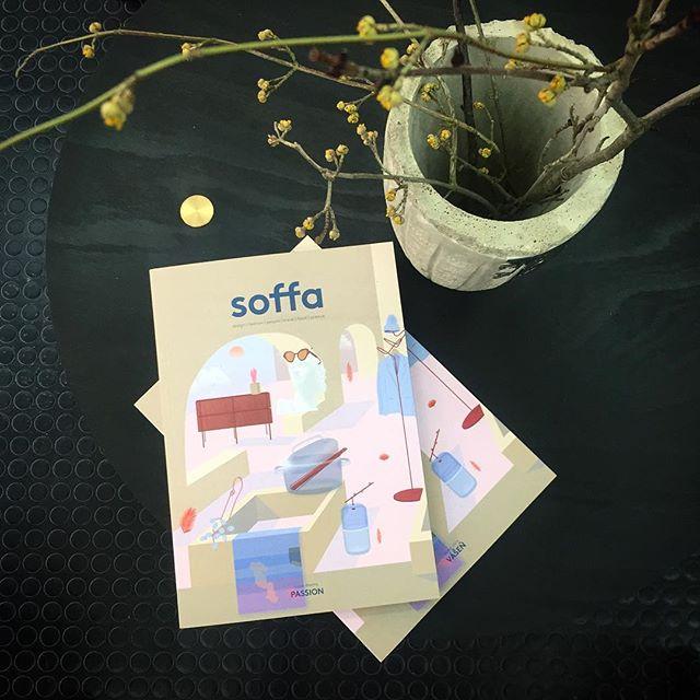 Dvouměsíčník @soffa_mag se u nás nadobro zabydlel! Jaro, vášeň právě ted v posledním vydání! #czechoriginal #magazin #soffa v #mimokolektiv #olomouc