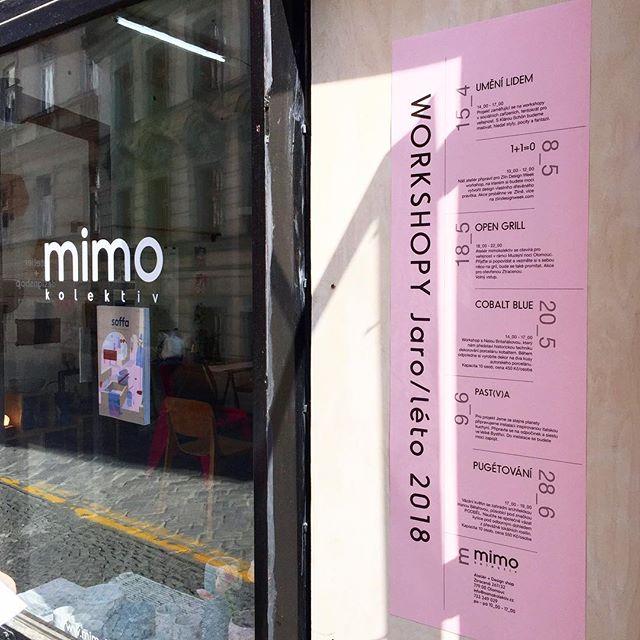 Růžové jaro/léto v @mimokolektiv! Připravujeme pro Vás workshopy, grilování a instalaci nejen v Olomouci! #staytuned a #dojdi #pink #spring #open #ztracena #workshop #atelier #designshop #mimokolektiv #olomouc #tesimesenavas 🖤