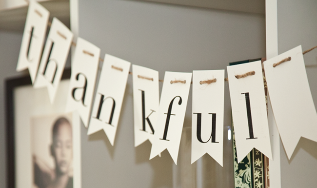 DIY Banner  Banners are always a cute way to set any festive mood and very easy to make. Choose what you would like the banner to say and cut out pieces of paper in the shape you would like (you can always print out the letters, 1 per page, and cut them accordingly instead of writing). Next, grab a hole punch and punch two holes in each piece of paper and weave the yarn through.
