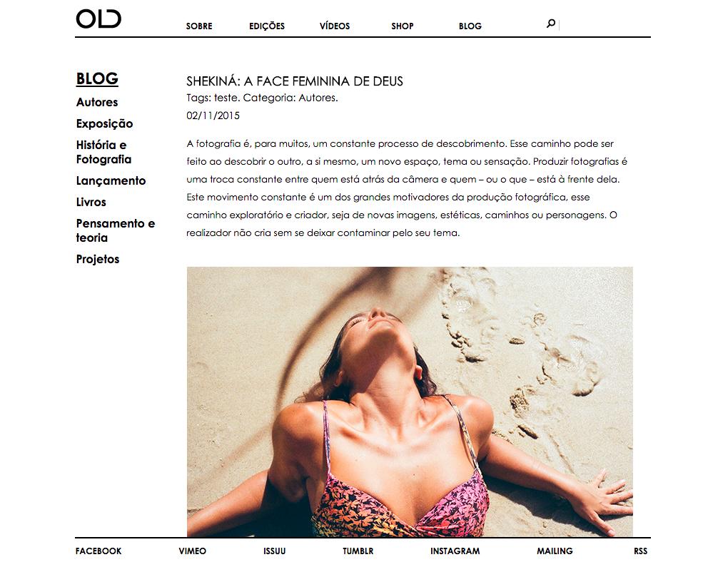 shekiná - @ revista OLD