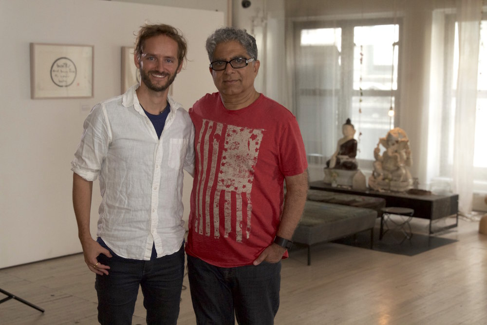 Deepak Chopra and Jeremy Frindel after interviewing Deepak for the film.