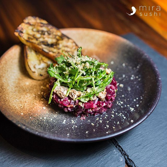 Are you tired of looking for a place that can cater to your dietary needs?  Beet Tartare is one of our newest Vegan 🌱 additions to our menu. Come try it at Mira Izakaya 🏮 . . . . #mirasushiflatiron❤️ #japanesenyc #flatironeats #cheatday #imhungry
