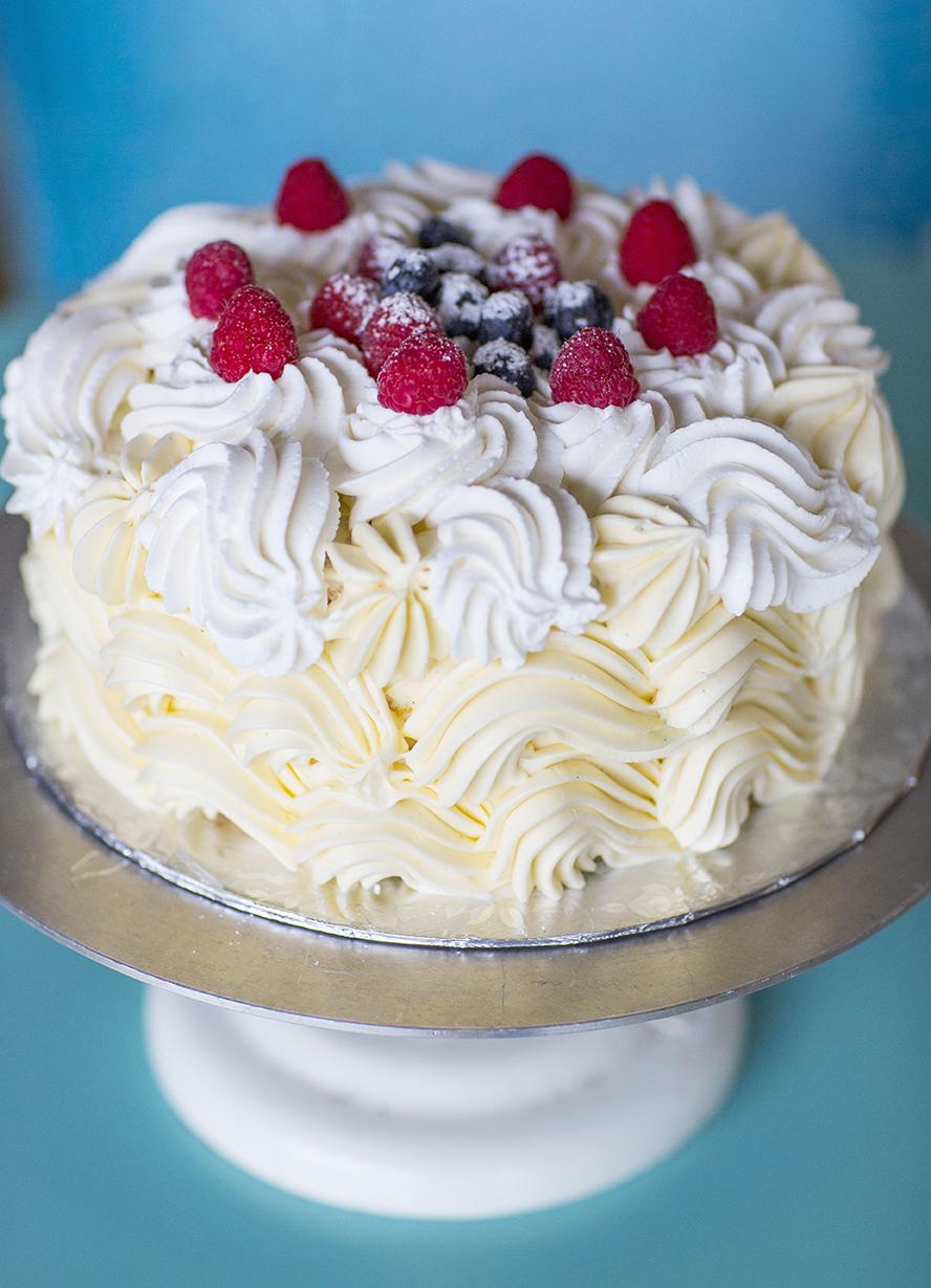 Lemon Chiffon Celebration Cake
