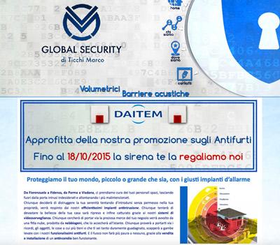 Global Security (Fidenza, PR) - Installatore di sistemi di sicurezza civili e industriali