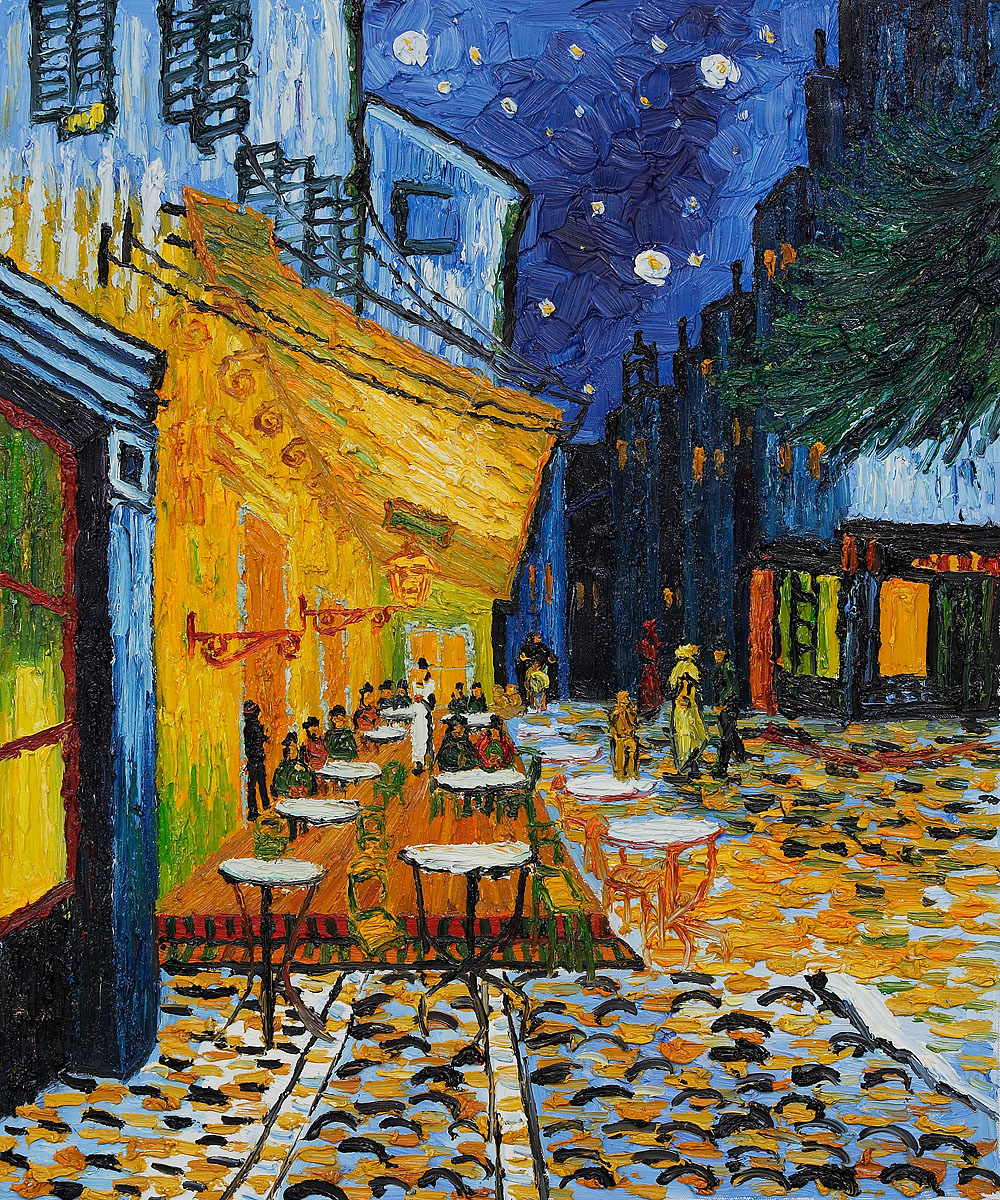 Cafe Terrace at Night by Vincent van Gogh, 1888