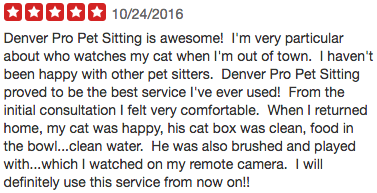 Denver Pro Pet Sitting Review