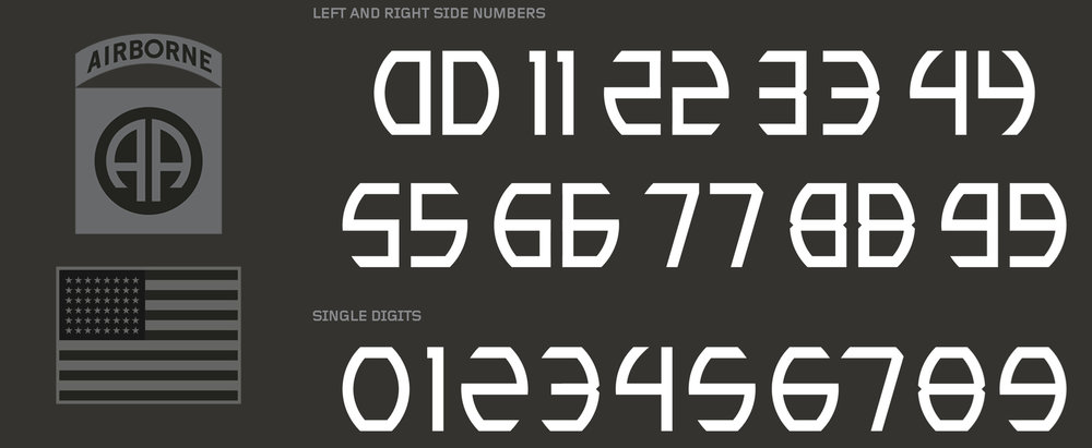 2016 Army Uniforms Font
