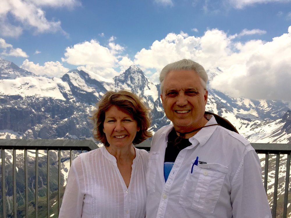 "Maria & Mark at Jungfrau, ""The Top of Europe""."