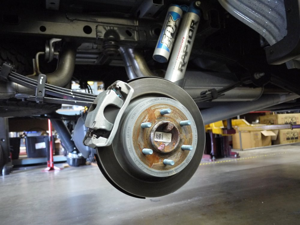 Ford F150 Raptor OE rear brakes / Photo Credit: EXQUIS