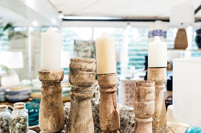 Timber candlesticks | #theboathousegroup #sydneyhomewares #sydneyinteriors