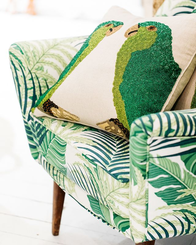 Custom armchairs, and our favourite hand-beaded cushions | #theboathousegroup #sydneyhomewares #sydneyinteriors