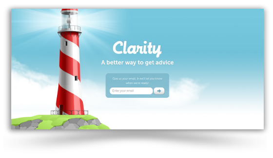 Clarity.fm Launch Screen