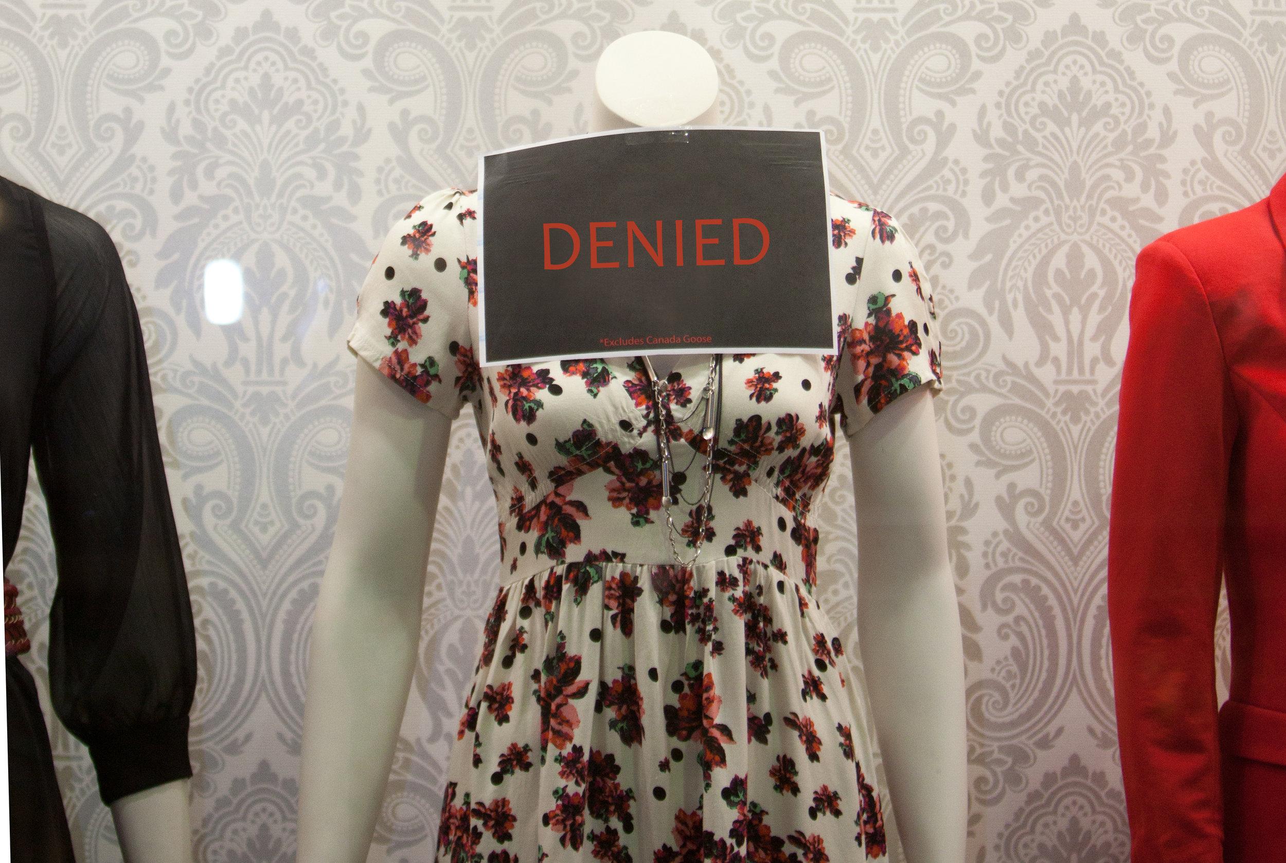 [Edited] Photo of the Display Window at Envy Saint John, Fashion Forward 2011