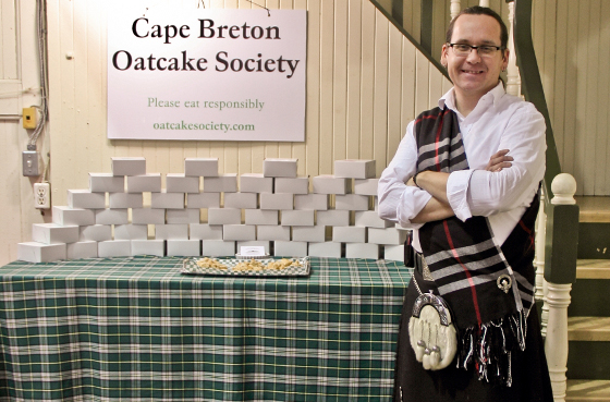 Greg Pringle from the Cape Breton OatCake Society