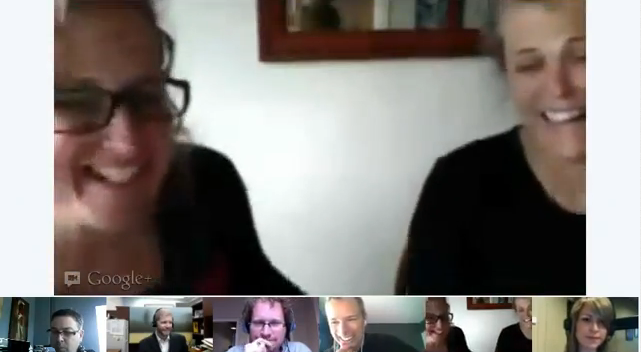 Screenshot from First +Hangout